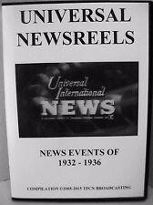 UNIVERSAL NEWSREELS 1932 - 1936 (DVD)