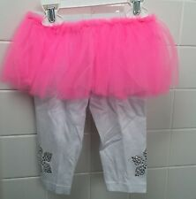 Haute Stuff Baby Girl Size 12m (1) Pink White Tutu Leggings BNWT New Shower Gift