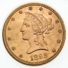 1895 $10 Gold Liberty Head Half Eagle w/ Motto BU Condition! Great Early US Gold