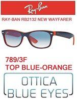 Occhiali da sole RAYBAN RB2132 789/3F NEW WAYFARER Sunglasses Ray Ban BLUEorange
