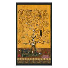 Panneau de tissu 56x102 cm L'Arbre deVie Gustav Klimt pour couture encadrement