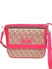 DKNY Messenger Grossbody Bag T&C Vintage PU Shoulder Purse $225 New