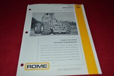 Rome Quick Hitch For Caterpillar 920 930 950 Loader Dealers Brochure BWPA