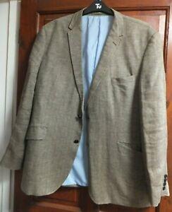 """M&S Sartorial Italian NOVA Tides Men's 100% Linen Jacket Size M  (46"""" ) Neutral"""