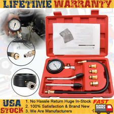 Petrol Gas Engine Cylinder Compression Tester Kit Gauge Automotive Car Tool US