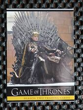 GAME OF THRONES SEASON TWO PROMO CARD P2 JOFFREY ON THRONE
