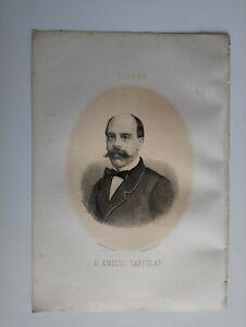 1867 Retrato Oval: Emilio Castelar y Ripoll, Cádiz-San Pedro del Pinatar