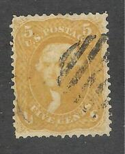 U.S. Scott 67b Jefferson 5c buff stamp, used.
