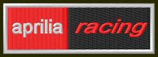 "APRILIA RACING EMBROIDERED PATCH~4-1/8""x 1-3/8"" BIKE RSV BORDADO PARCHE AUFNÄHER"