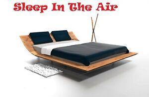 Float Style Massive Solid European Oak Ash Alder Cherry Walnut Queen or King Bed