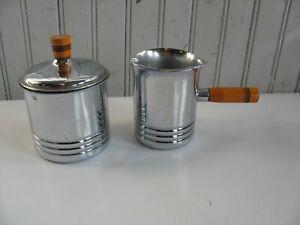 Vintage Krome Kraft Farber Bros New York steamed milk creamer sugar lid bakelite
