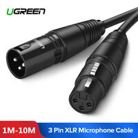 Ugreen Câble Microphone XLR 3 broches Mâle vers XLR Femelle pour HiFi Amplifiées