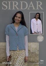 Sirdar 7866 Knitting Pattern Womens Short & Long Sleeved Jackets Sirdar Smudge