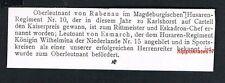 Oberleutnant von Rabenau, 1905, Husaren-Regiment Nr. 10, von Esmarch, (52)