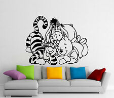 Winnie The Pooh Wall Decal Tigger Eeyore Cartoons Vinyl Sticker Art Mural (399z)