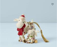 Lenox Christmas Marcie Moose & Baby Marcel Moose New 889432