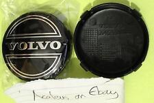 Set of 2x Volvo Hub Caps Alloy Wheel Centre 64mm V50 V70 XC60 XC90 Black
