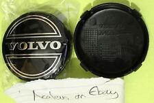Volvo Centre Caps Set of 2x Alloy Wheel 64mm Black Hub