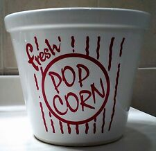 Popcorn Porcelain Bowl Movie Night Must-Have BIA Cordon Bleu White/Red Lettering