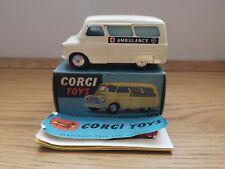 "Original Corgi Toys, 412 Bedford ""Utileco"" Ambulance, Original Box, Leaflet"