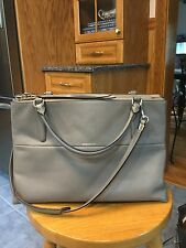 COACH BOROUGH BAG IN RETRO GLOVE TAN LEATHER UE WARM GREY EUC