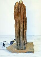 Vintage MCM Driftwood Table Lamp, Natural, Unique Lighting, Rustic Lamp