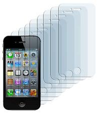 8 x Schutzfolie iPhone 4 4S Klar Clear Displayschutzfolie Folie Screen Protector