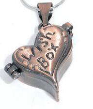 Heart Locket Prayer Wish Box Antiqued Copper Pendant Jewelry