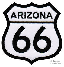 ARIZONA ROUTE 66 EMBROIDERED PATCH - IRON-ON APPLIQUE Highway Road Sign Biker