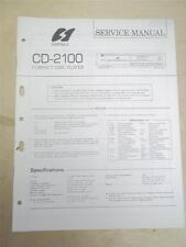 Sansui Service Manual~CD-2100 Compact Disc Player~Original~Repair