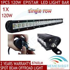 "25"" 120W LED Work Light Bar Off road Driving ATV Fog Light Spot Beam Single Row"