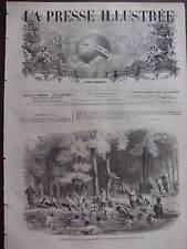LA PRESSE ILL 1871 N 182 LES PRISONNIERS DE L'ORANGERIE