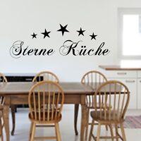 WANDTATTOO Sterne Küche WANDSTICKER Wandaufkleber Spruch