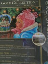 "Cross stitch Kit Gold Collection "" Christmas Wishes ""New by Dimensions"