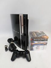SONY PlayStation 3 PS3 Console Original 'Phat' 40GB & 10 Games Bundle  - E13