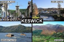 SOUVENIR FRIDGE MAGNET of KESWICK & LAKE DISTRICT ENGLAND