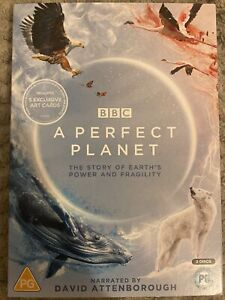 A Perfect Planet (David Attenborough) 2 Disc DVD Set +5 Art Cards