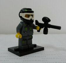 LEGO 71001 Minifigure Series 10 PAINTBALL PLAYER Paint Splats Gun Helmet Minifig