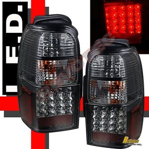 Black LED Tail Lights Lamps 1 Pair For 96-02 Toyota 4Runner SR5 Base Limited