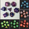 7Pcs TRPG Würfel-Set Multi-sided Dungeons  Würfelset - Würfelspiel G