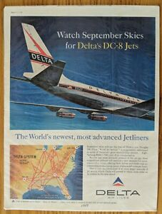 """Print Advertisement for Delta Airlines-1959-10 x 13 3/8"""""""
