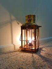 Large Solid Brass Nautical Cargo Electric Lantern