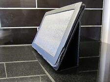 Black PU Leather Carry Case/Cover/Wallet Stand for Acer A500 Iconia Tablet A 500