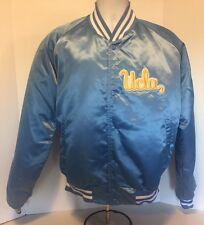 Vintage UCLA Bruins CHALK LINE Satin Jacket NCAA Swingster XL 90s 80s Shiny