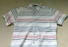 Free Planet Shirt Mens Size Sz M Short Sleeve Button Down Men's Casual