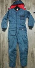 Vintage Snowmobile Snow Ski Winter Warm Suit Men's Size Small Youth Large Blue