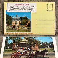 Vintage Historic Colonial Williamsburg Souvenir Post Card Book Photo Cards