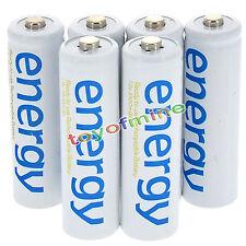 6xAA 3300mAh 2A Ni-Mh Energia batteria ricaricabile bianco Cellulare per RC MP3