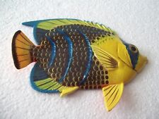 Tropical Fish Wall Plaque Tiki Bar Beach Pool Nautical Decor Size 6 in TFW20
