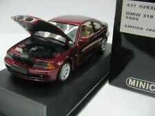 WOW EXTREMELY RARE BMW E46 318 Ci Coupe 2.0L 16V 1999 S.Red 1:43 Minichamps-GTR